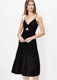LOFT Twist Tiered Midi Dress