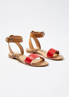 LOFT Two Tone Ankle Strap Sandals