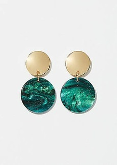 LOFT Two Tone Circle Drop Earrings