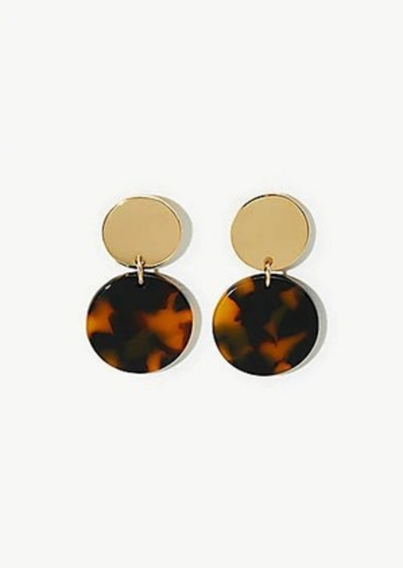 LOFT Two Tone Circle Drop Earrings