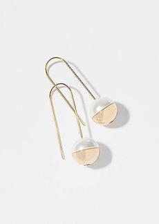 LOFT Two Tone Drop Earrings