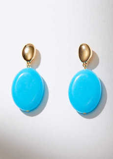 LOFT Two Tone Drop Earrings