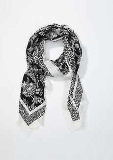 LOFT Two Tone Floral Square Scarf