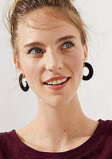 LOFT Two Tone Hoop Earrings