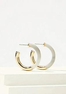 LOFT Two Tone Hoop Earrings