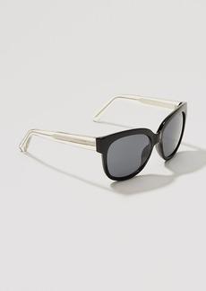Two Tone Modern Cateye Sunglasses