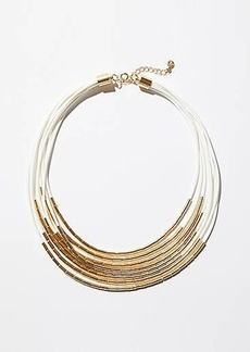 LOFT Two Tone Multistrand Necklace