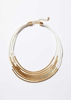 LOFT Two Tone Multistrand Necklace
