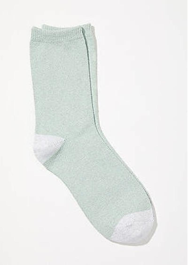 LOFT Two Tone Sparkle Crew Socks