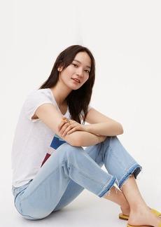 Unpicked Straight Crop Jeans in Pale Indigo Wash