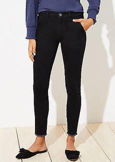 LOFT Utility Skinny Jeans in Black