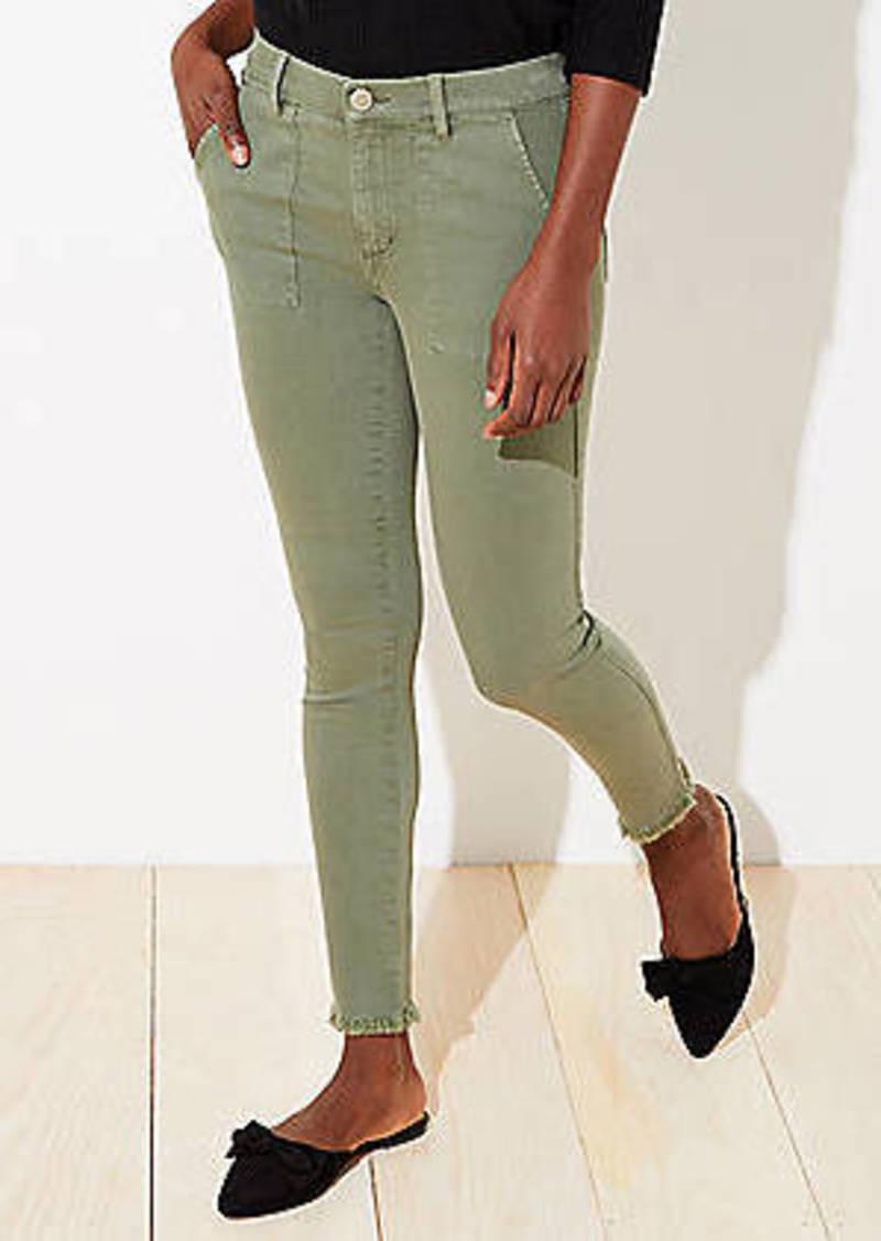 LOFT Utility Skinny Jeans in Sage Cloud