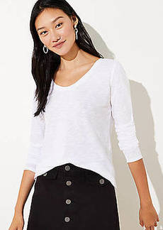 LOFT V-Neck Long Sleeve Shirttail Tee