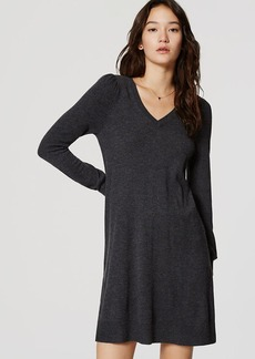 LOFT V-Neck Swing Sweater Dress