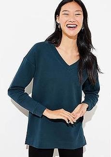 LOFT V-Neck Tunic Sweatshirt
