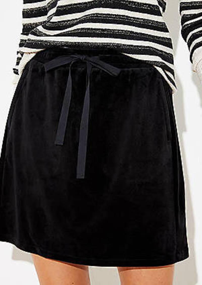 LOFT Velour Jogger Skirt