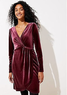 LOFT Velvet Knot Wrap Dress
