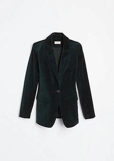 LOFT Velvet Modern Blazer