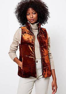 LOFT Velvet Puffer Vest