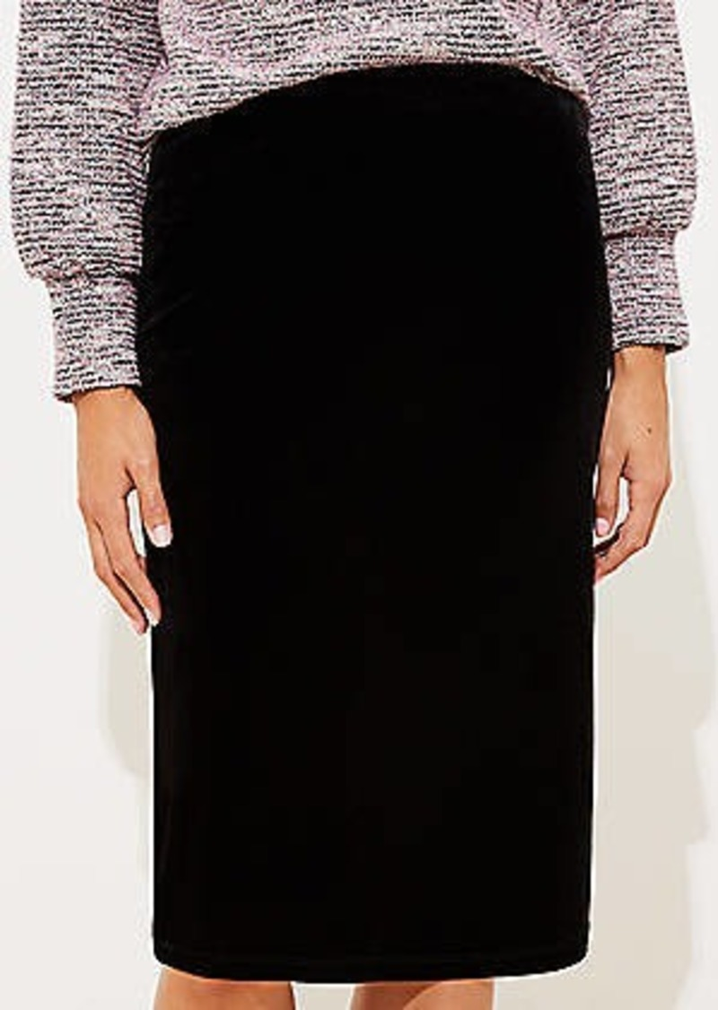 LOFT Velvet Pull On Pencil Skirt