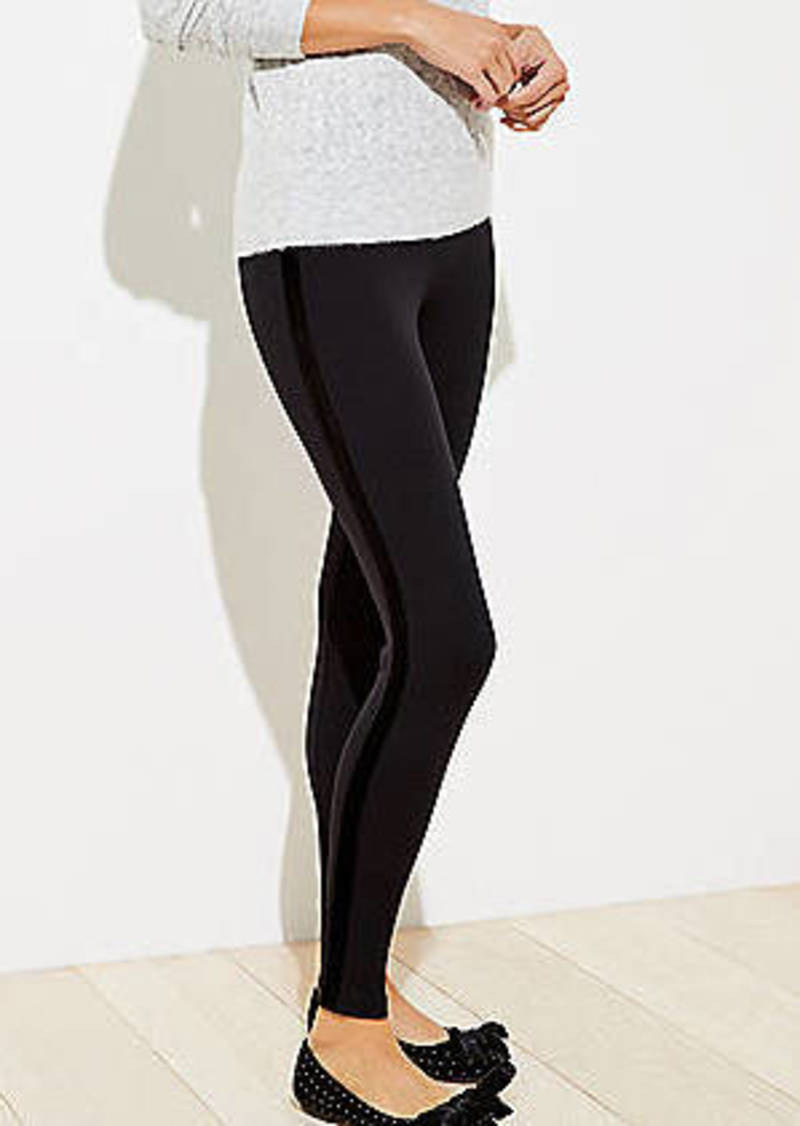 LOFT Velvet Side Stripe Leggings