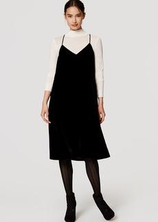 LOFT Velvet Slip Dress