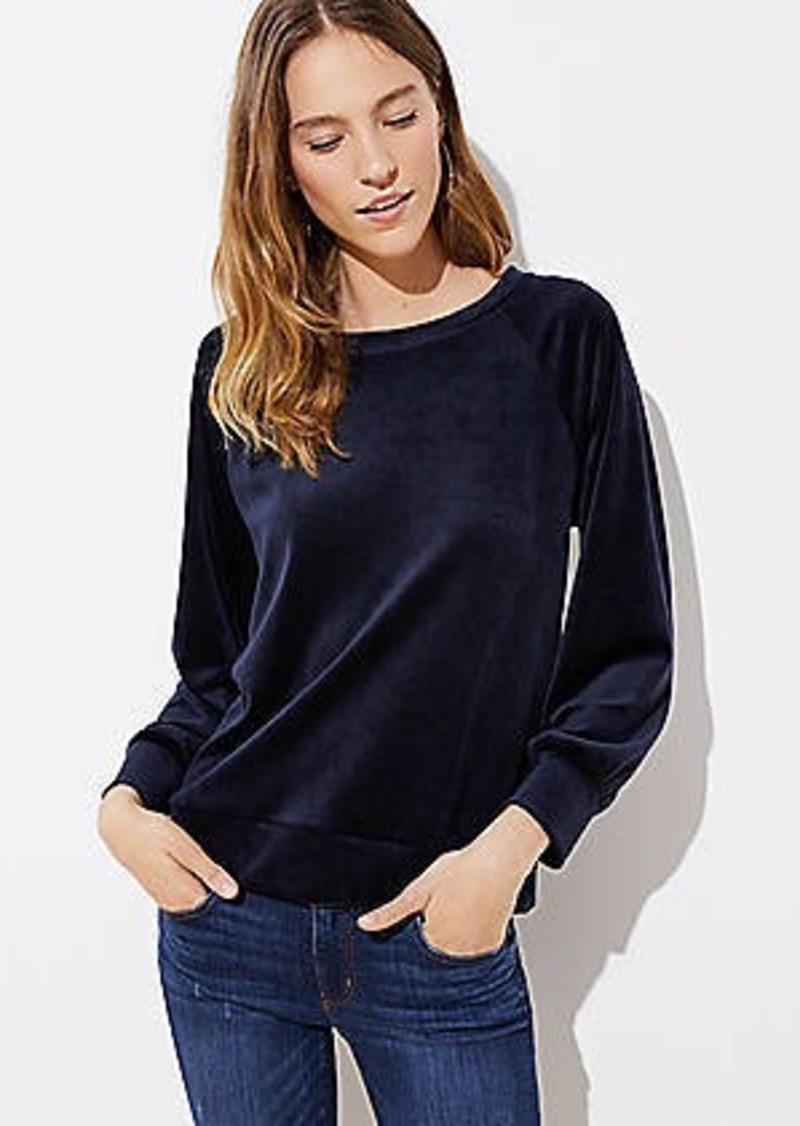 LOFT Velour Sweatshirt