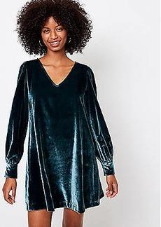 LOFT Velvet Swing Dress