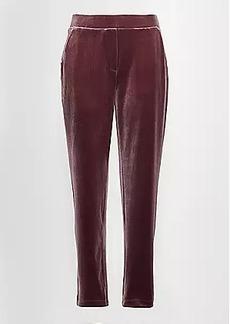LOFT Velvet Tapered Pull On Pants