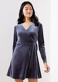 LOFT Velvet Wrap Dress