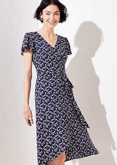 LOFT Vine Flutter Wrap Dress