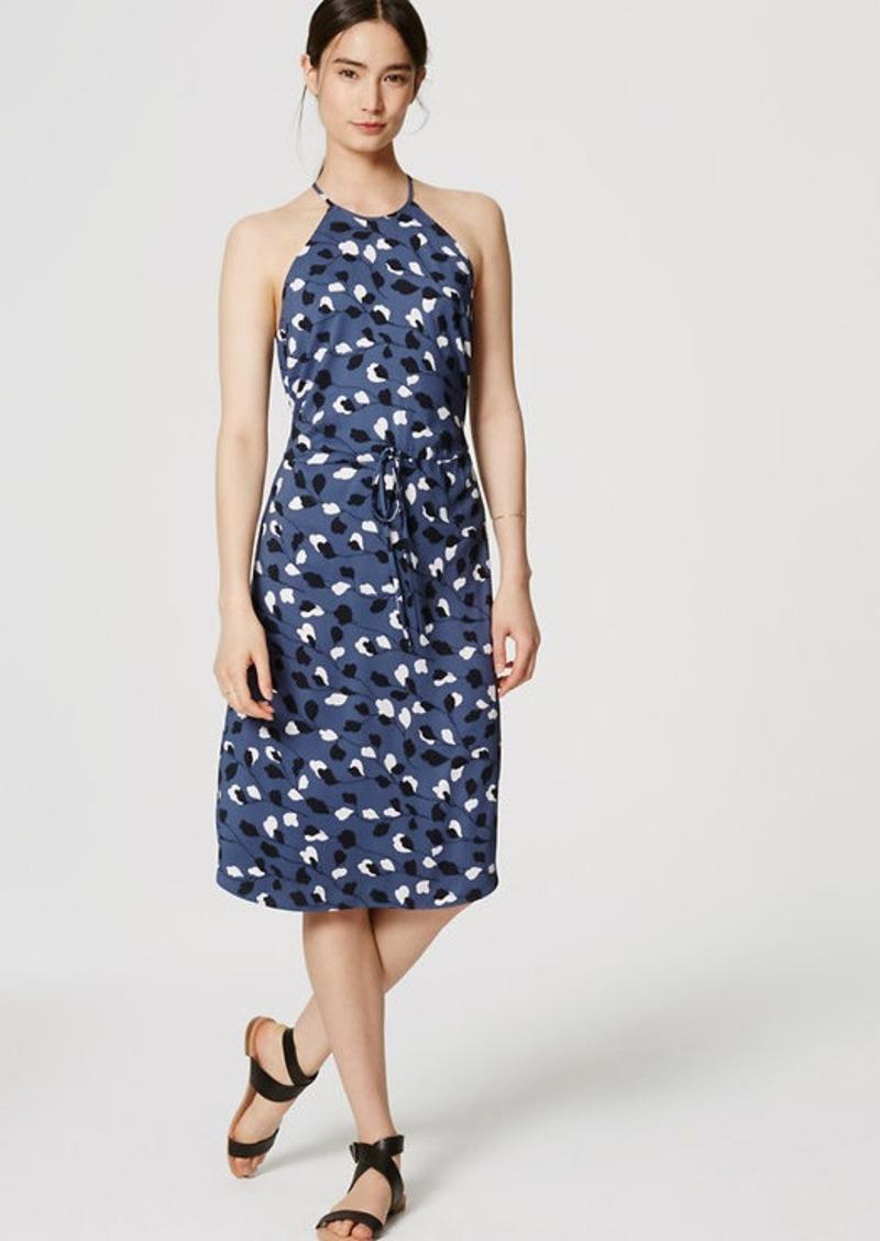 LOFT Vine Halter Midi Dress
