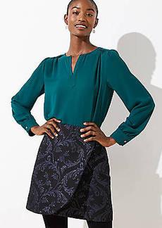 LOFT Vine Jacquard Wrap Skirt