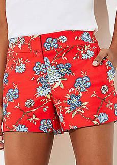 LOFT Vine Riviera Shorts with 4 Inch Inseam