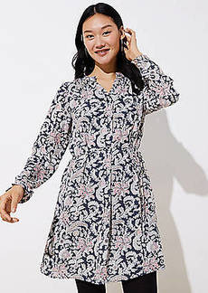 LOFT Vine Ruffle Shirtdress