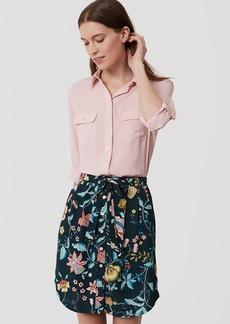 Vine Tie Waist Button Skirt