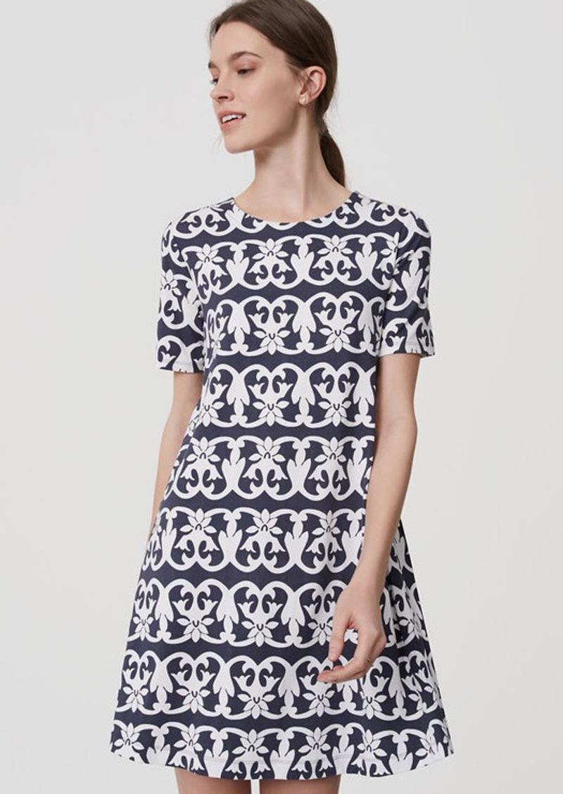 ef8363ab9e8 LOFT Vineyard Stripe Swing Dress
