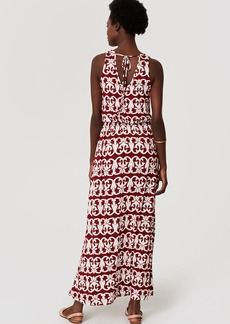 Vineyard Stripe Tie Back Maxi Dress