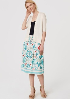 Watercolor Floral Drawstring Skirt