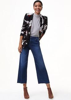 Wide Leg Crop Jeans in Bright Mid Indigo Wash