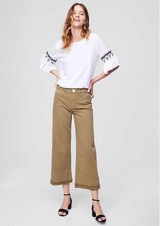 LOFT Wide Leg Crop Jeans in Magnolia Green