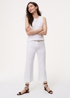 Wide Leg Crop Jeans in White