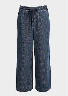 LOFT Wide Leg Crop Pull On Jeans in Railroad Stripe