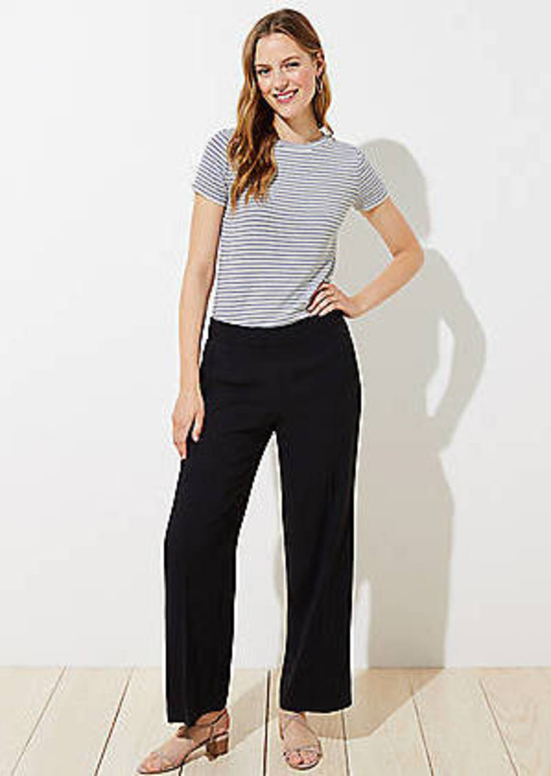 LOFT Wide Leg Pull On Pants