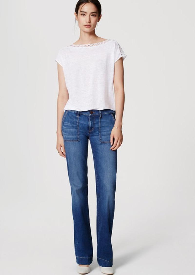 LOFT Wide Leg Trouser Jeans in Bright Indigo Wash