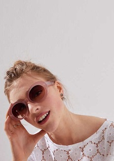 LOFT Wide Oval Sunglasses