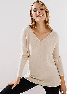 LOFT Wide V-Neck Sweater