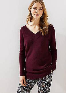 LOFT Wide V-Neck Sweater