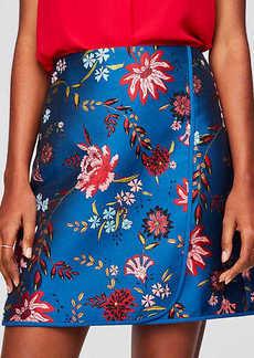 LOFT Wildflower Jacquard Wrap Skirt