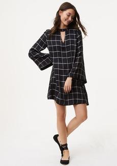 Windowpane Choker Dress